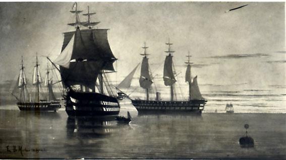 Naus e fragatas inglesas, Edoardo de Martino