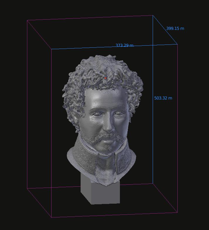 Parte do processo de reconstituição digital da face de d. Pedro I