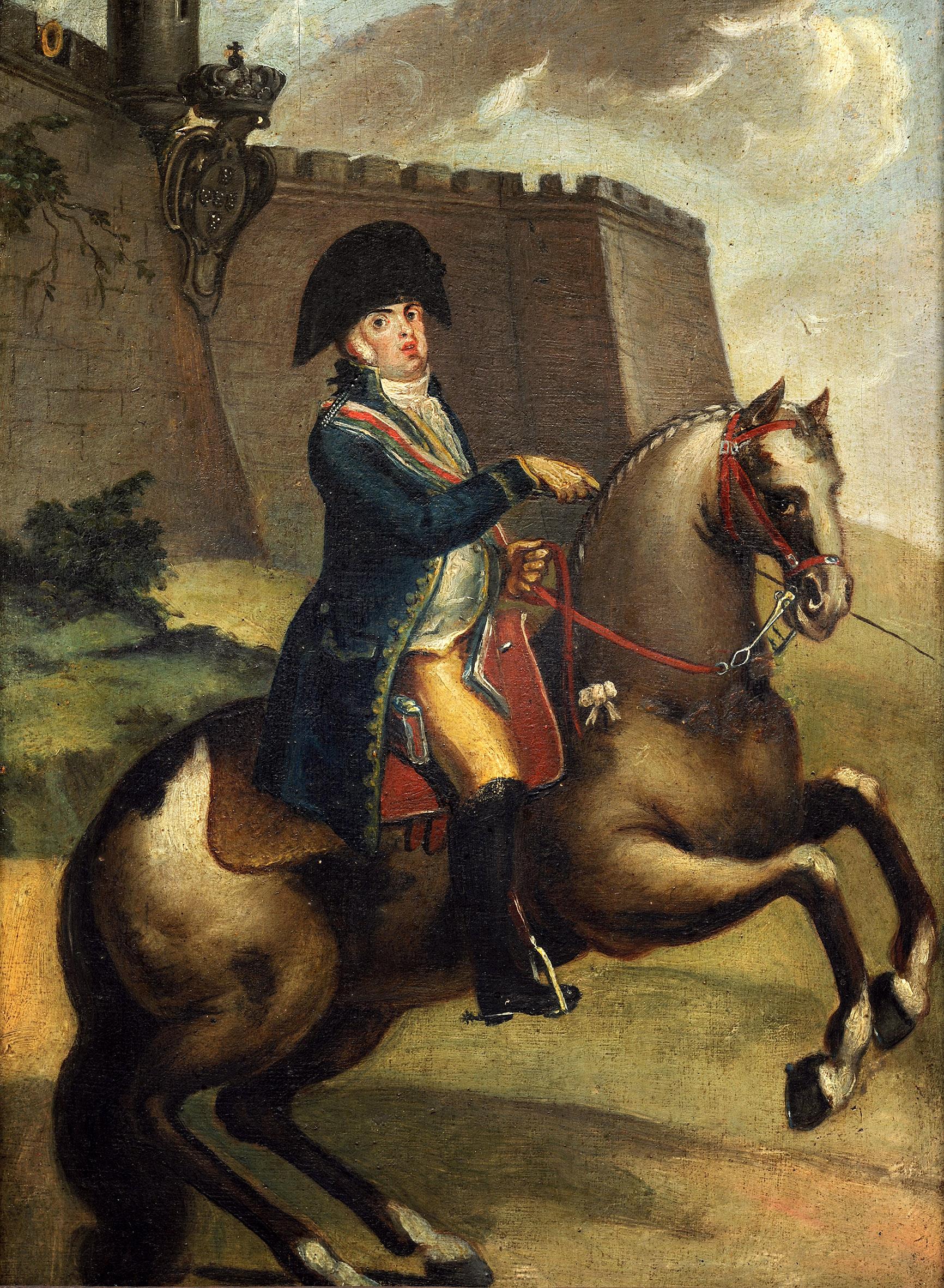 O retrato de dom João, príncipe regente, de João Tomás da Fonseca, pertence ao Museu Imperial e está em exposição no MHN