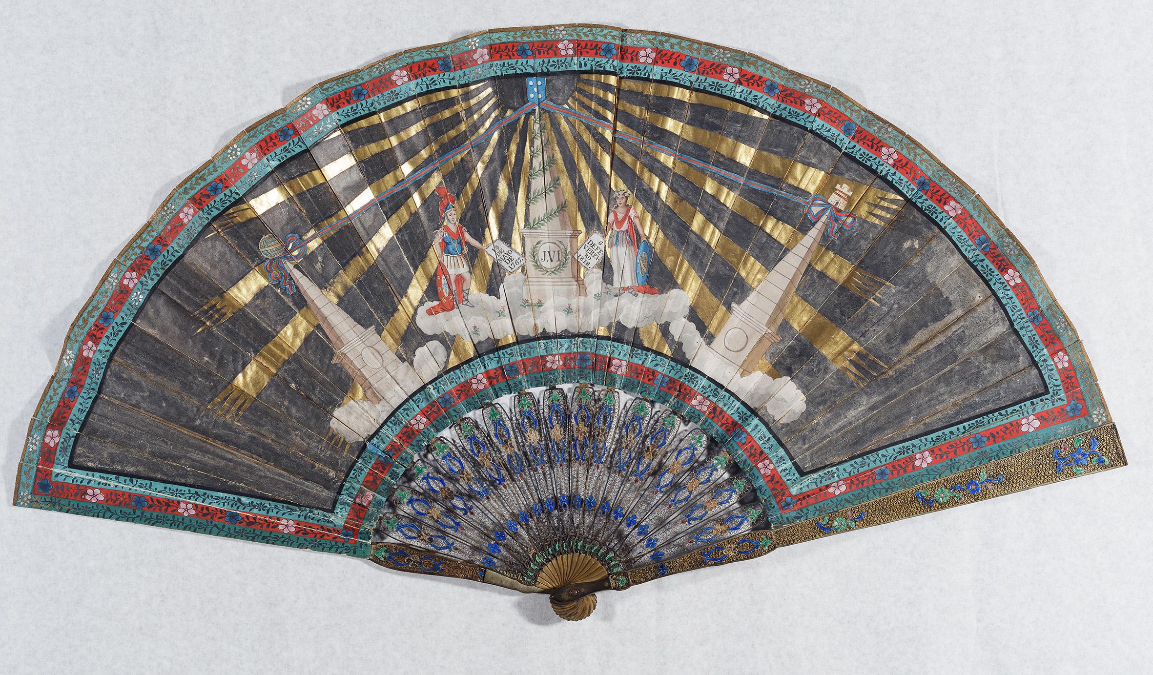 Leque comemorativo à aclamação de dom João VI como rei está em exposição no MHN