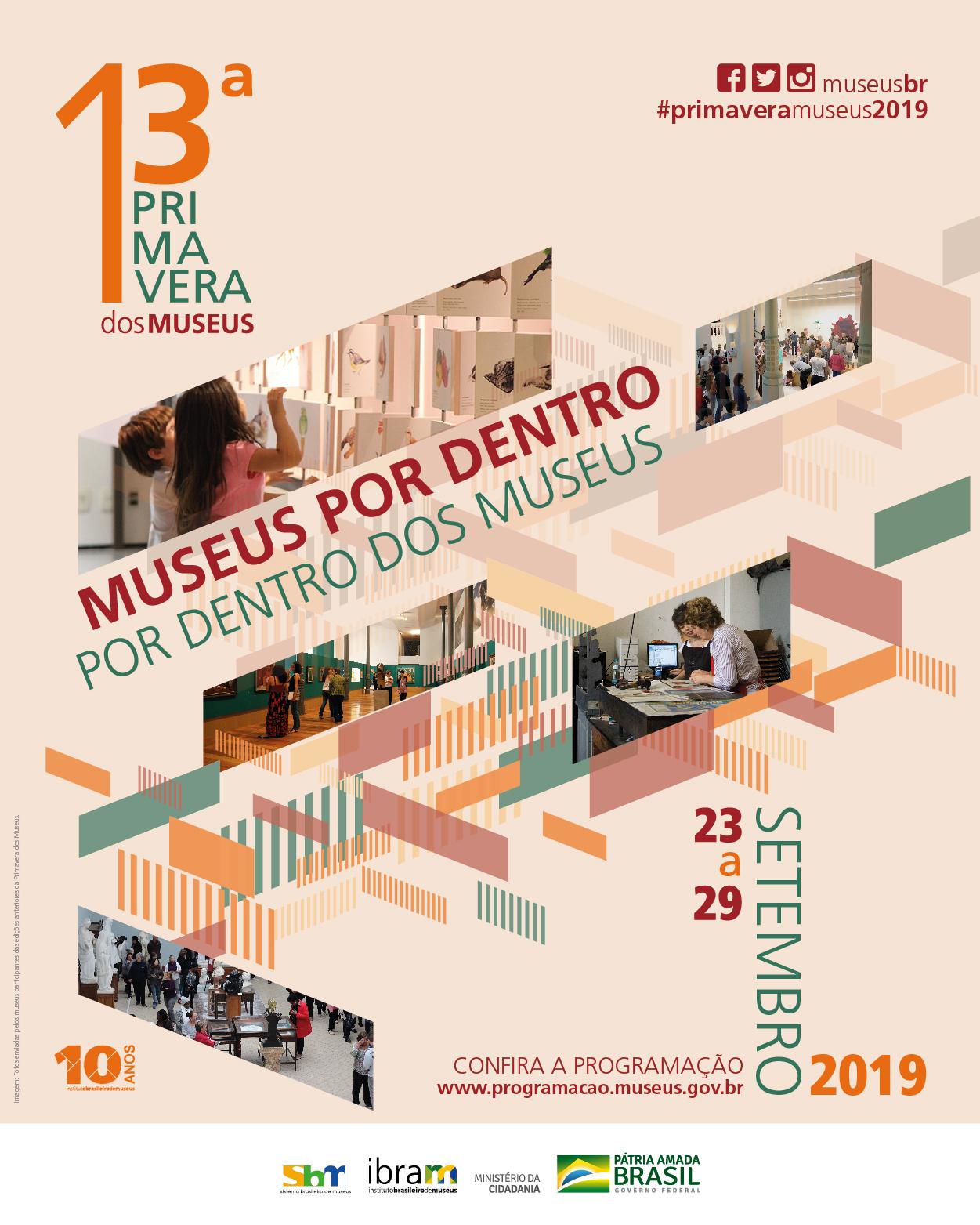 Cartaz da Primavera dos Museus 2019 - coordenada pelo Ibram