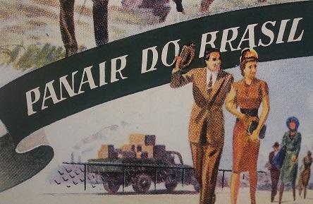 """Publicidade da Panair do Brasil reproduzida no catálogo da exposição """"Nas asas da Panair"""""""