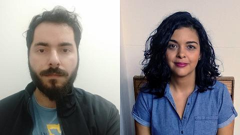 Pedro Heringer e Paula Aranha são museólogos do Núcleo de Acervo de Numismática da reserva técnica do MHN