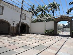 Detalhe do pátio da Minerva, que compõe o conjunto arquitetônico do MHN