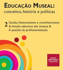 Capa do segundo volume da série sobre Educação Museal do MHN